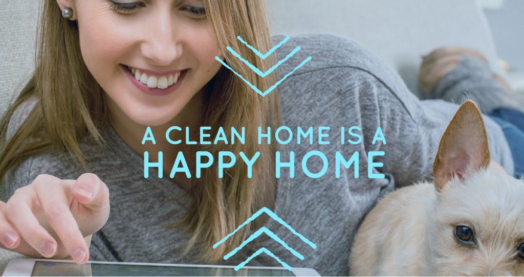 A clean home is a happy home